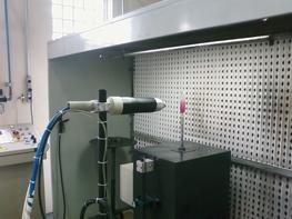 Automatic bell coating on glass