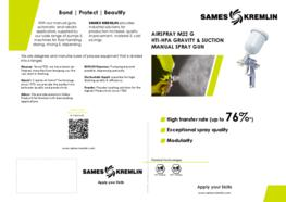 Leaflet M22 A-G Manual Airspray Spray Gun (English version) SAMES KREMLIN