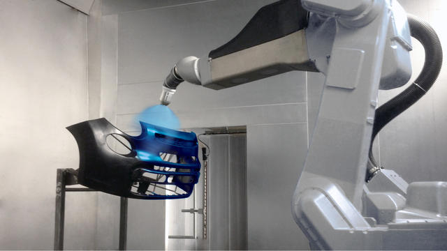 Bumper robotic spraying solution