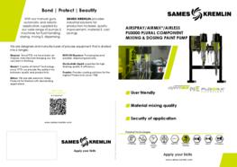 Leaflet PU3000 Plural Component Mixing & Dosing paint pump (English version) SAMES KREMLIN